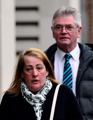 Lyn Rigby, mother of murdered British soldier Lee Rigby, and stepfather Ian Rigby arrive at the Old Bailey in London