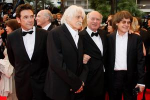 French cartoonists Tignous, Francois Cavanna, Wolinski and Cabu pose at the 61st Cannes Film Festival in this May 17, 2008 file picture. Reuters/Jean-Paul Pelissier/Files