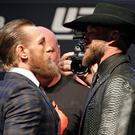 Conor McGregor, left, and Donald