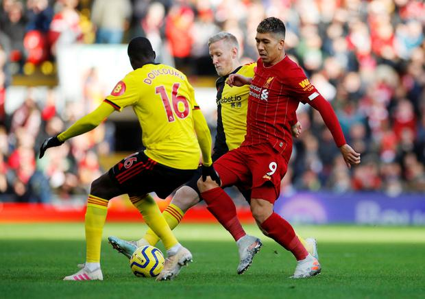 Liverpool star Roberto Firmino has struggled for form in recent weeks. REUTERS/Phil Noble