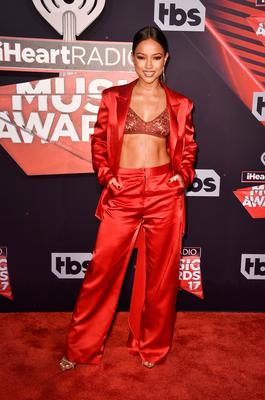 TV personality Karrueche Tran attends the 2017 iHeartRadio Music Awards which broadcast live on Turner's TBS, TNT, and truTV at The Forum on March 5, 2017 in Inglewood, California.  (Photo by Alberto E. Rodriguez/Getty Images)