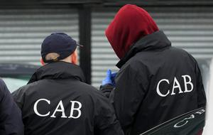 'In the massive CAB operation last November, gardaí               seized six cars, fake cash and expensive watches as a               result of 21 raids across eight               counties.' Stock Image