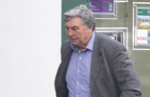 Michael Dunne arriving at court yesterday