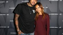 Recording artist Chris Brown (L) and model Karrueche Tran attend the Alexander Wang x H&M Pre-Shop Party at H&M on November 5, 2014 in West Hollywood, California.
