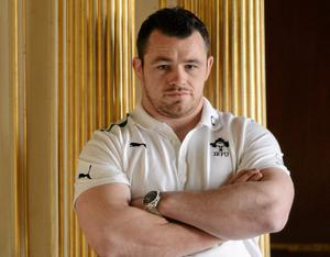 5 March 2013; Ireland's Cian Healy during a press conference ahead of their side's RBS Six Nations Rugby Championship game against France on Saturday. Ireland Rugby Squad Press Conference, Carton House, Maynooth, Co. Kildare. Picture credit: Brendan Moran / SPORTSFILE