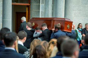 The funeral of 98fm DJ Johnny Lyons.