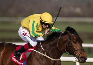 FIRST CLASS: Karawaan and Colin Keane triumph in the Tote Irish Lincolnshire at Naas yesterday. Photo: Racing Post.