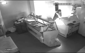 Moore's Family Butchers, Rathdrum which was attacked over Christmas  Grabs from CCTV