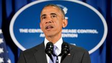 President Barack Obama speaks at the Centers for Disease Control and Prevention (CDC) in Atlanta yesterday