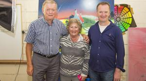 """Artist Eoin O'Connor with parents Fergus and Helen at the launch of his new collection """"Mutz"""""""
