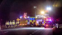 Scene of fatal accident at Burton crossroad on N78, Athy Co. Kildare. Photo: Michael O'Rourke