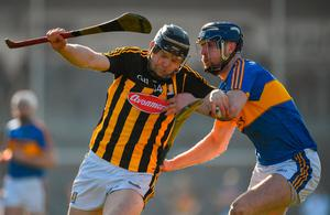Kilkenny's Walter Walsh is tackled by Tomás Hamill of Tipperary during February's league clash at Nowlan Park. Photo: Brendan Moran/Sportsfile