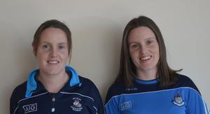 ADOPTED DUBS: Louise Byrne (left) and twin sister Emma are GPOs with Skerries Harps and St Vincent's