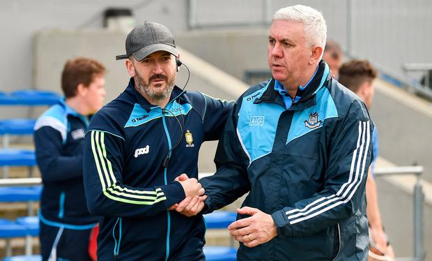 Cusack (left) spent two years as a coach with Clare. Photo: Diarmuid Greene/Sportsfile