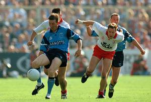 Mick Deegan's Dublin team finally got over the line in an All-Ireland final against Tyrone in 1995. Photo by Ray McManus/Sportsfile