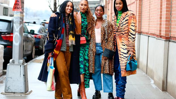Guests are seen posing outside of the Coach 1941 show during New York Fashion Week on February 11, 2020 in New York City. (Photo by Donell Woodson/Getty Images)