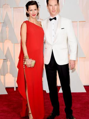 HOLLYWOOD, CA - FEBRUARY 22:  Actor Benedict Cumberbatch (R) and Sophie Hunter attend the 87th Annual Academy Awards at Hollywood & Highland Center on February 22, 2015 in Hollywood, California.  (Photo by Jason Merritt/Getty Images)
