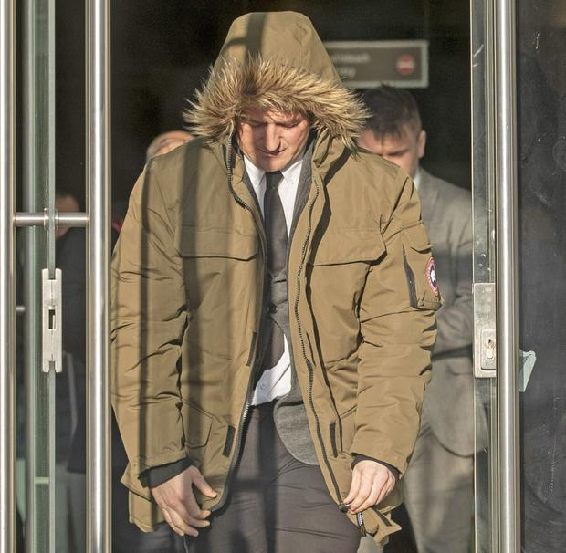 Robbie Lawlor leaving court a free man yesterday. Photo: Collins Courts