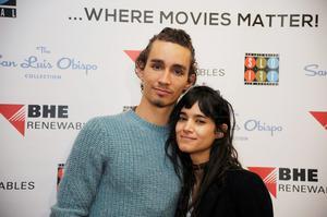 Actor Robert Sheehan (L) and Sofia Boutella attend the 2015 San Luis Obispo International Film Festival at Fremont Theatre  on March 10, 2015 in San Luis Obispo, California.  (Photo by Phil Klein/Getty Images)