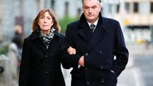 Ian Bailey and Jules Thomas outside the High Court in Dublin.