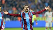 Abdulkadir Omur of Trabzonspor has been linked with a move to Liverpool.  (Photo by Hakan Burak Altunoz/Anadolu Agency/Getty Images)