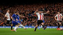 LONDON, ENGLAND - JANUARY 28:  Branislav Ivanovic of Chelsea scores his sides first goal during the Emirates FA Cup Fourth Round match between Chelsea and Brentford at Stamford Bridge on January 28, 2017 in London, England.  (Photo by Darren Walsh/Chelsea FC via Getty Images)