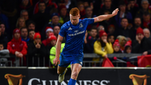 29 December 2018; Ciarán Frawley of Leinster kicks a conversion during the Guinness PRO14 Round 12 match between Munster and Leinster at Thomond Park in Limerick. Photo by Ramsey Cardy/Sportsfile