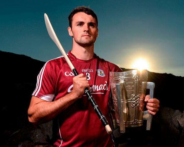 Johnny Coen at the launch of the All-Ireland hurling series on the Aran Islands earlier this month. Photo: Diarmuid Greene/Sportsfile