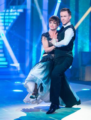 Teresa Mannion dancing with John Edward Nolan during the second live show of RTE's Dancing with the Stars. Picture: KOBPIX