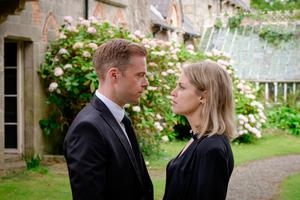 Rory Keenan as Eric and Amy Huberman as Tara in Striking Out