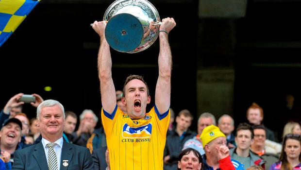 6 June 2015; Roscommon captain Micheal Kelly lifts the Nicky Rackard Cup. Nicky Rackard Cup Final, Armagh v Roscommon. Croke Park, Dublin. Picture credit: Matt Browne / SPORTSFILE