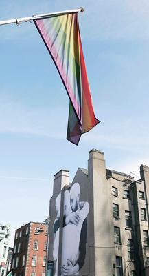 13/04/15 Massive same sex marriage mural pictured on the side of the Mercantile building at the junction of South Great George?s St and Dame St. Pic Stephen Collins/Collins Photos