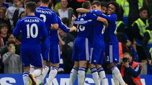 Chelsea Diego Costa celebrates scoring his side's first goal