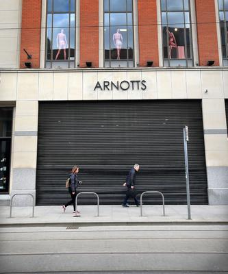 No work: The temporary closure of so many businesses is costing the economy dearly. Picture: Frank McGrath