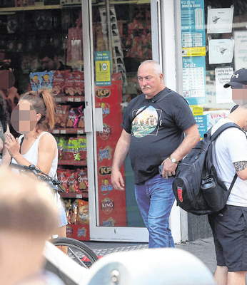 Wife-killer Anton Mulder walks in Dublin city centre after his recent release from jail.