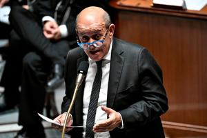 French Foreign Affairs Minister Jean-Yves Le Drian. Photo by STEPHANE DE SAKUTIN / AFP