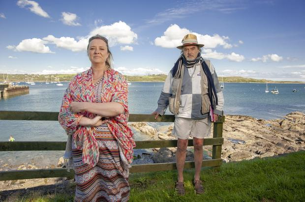 STILL ALL AT SEA: Mairia Cahill and Ian Bailey pictured in         Schull, west Cork. Photo: Daragh McSweeney/Provision