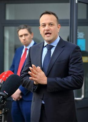Taoiseach Leo Varadkar and Health Minister Simon Harris. Photo: Frank Mcgrath