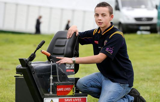 Tullamore Show 2017. Jack Nagle who won best inventions in the Agriculture and Student competitions. Picture; Gerry Mooney