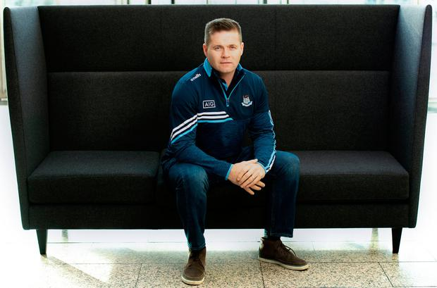 New Dublin football manager Dessie Farrell was in AIG HQ today to help launch their New Year offer of 20% Off Car Insurance at www.aig.ie. Photo: Ramsey Cardy/Sportsfile