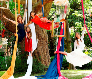 Opera singer Aoife Gibney and aerial artists from Aerial Cirque launch Culture Night in Merrion Square Park