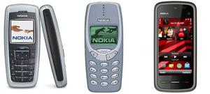 Numbers 6, 5 and 4: Three more Nokias again. The 2600 (left) from 2004 sold 135 million, the 3310 (left) from 2000 sold 136 million and 2010's 5230 sold 150 million.