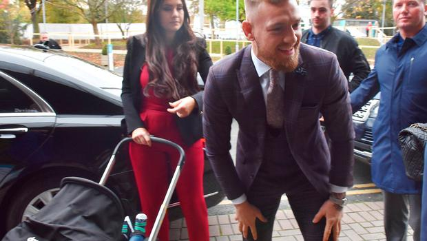 Dee Devlin and Conor McGregor outside The Late Late Show