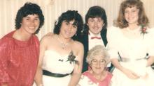 Journalist Andrea Smith (second left) with her mother Eileen, Chris Keogh, grandmother May and friend Andrea Traynor