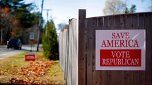 A campaign sign is pictured in Wells, Maine November 3, 2014