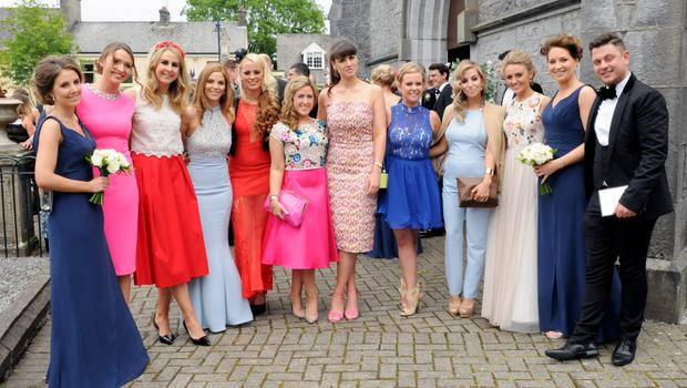 12/6/2015  A general view of guest at the Wedding of Sean Cronin and Claire Mulcahy. St. Josephs Catholic Church, Castleconnell, Co. Limerick. Pic: Gareth Williams / Press 22