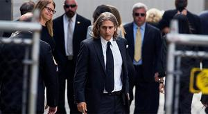 Actor Michael Imperiolii arrives for the funeral of James Gandolfini