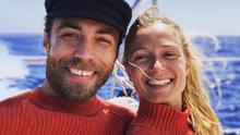 James Middleton and fiancée Alizee Thevenet have been together for nearly two years. Picture: Instagram