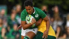 Sophie Spence in action for Ireland against Australia at the 2017 World Cup