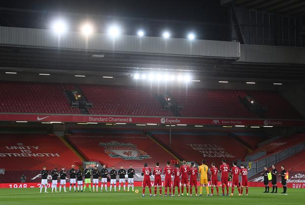 Premier League matches have been staged in front of empty stands since March
